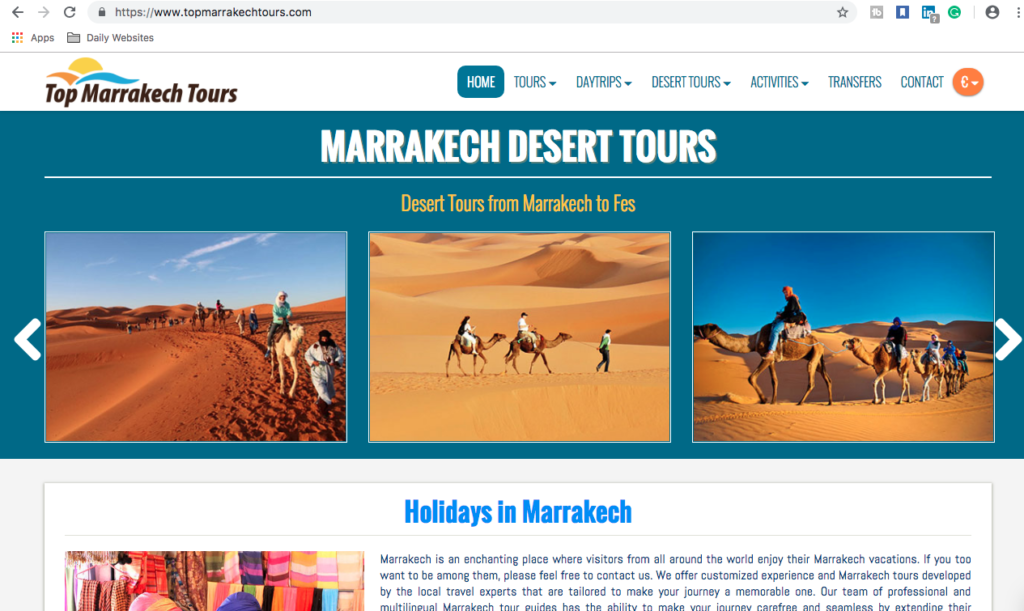 Top Marrakech Tours, ProLinkage Digital Marketing Services